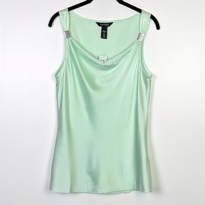 WHBM Cowl Layering Tank in Divinity Silk NWT